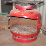 Turning old gas bottles into biochar stoves