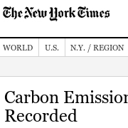 Carbon Emissions Show Biggest Jump Ever Recorded