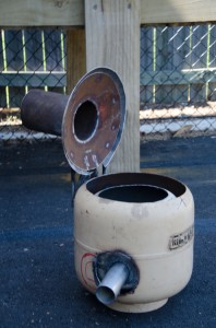 Biochar stove - Peter's invention